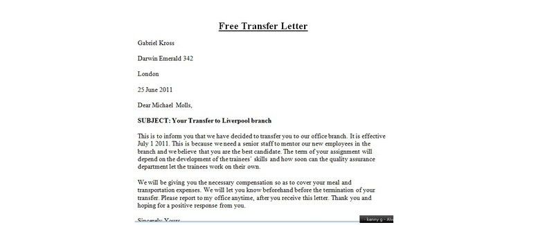 Request letter to manager for training