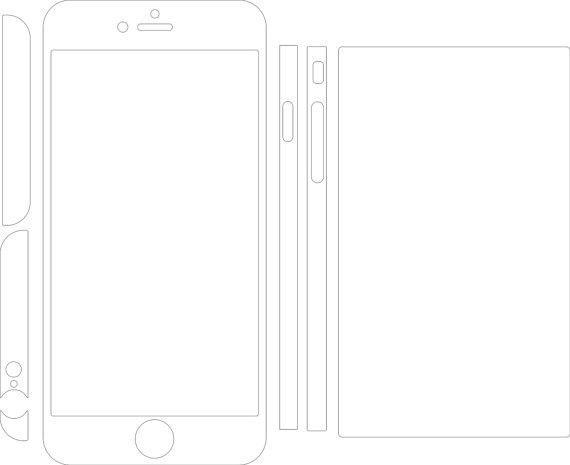 Iphone 6 Plus Skin template for cutting or machining Digital