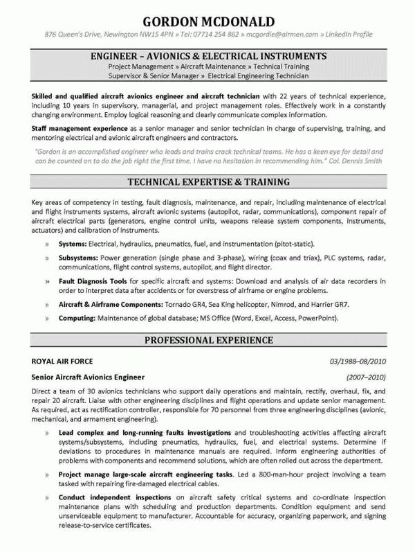 Download Avionics System Engineer Sample Resume ...