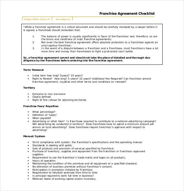 Franchise Agreement Template – 10+ Free Word, PDF Documents ...