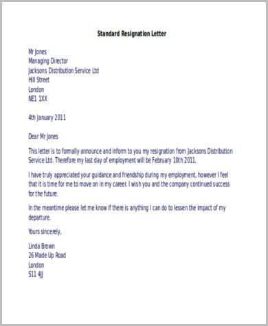 Resignation Letter Examples - 9+ Free Documents in Word, PDF