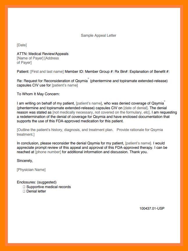 11+ medical appeal letter sample   teller resume