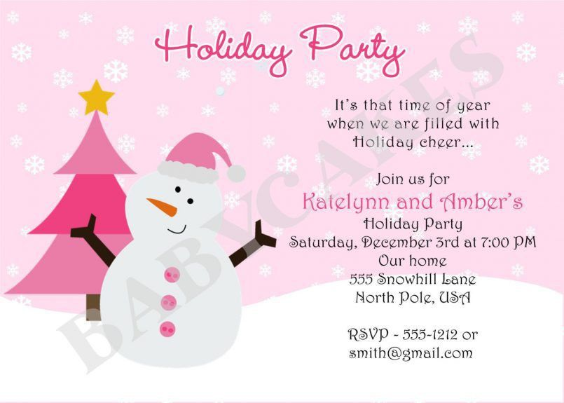 Template Exquisite Holiday Party Invitation Template With ...