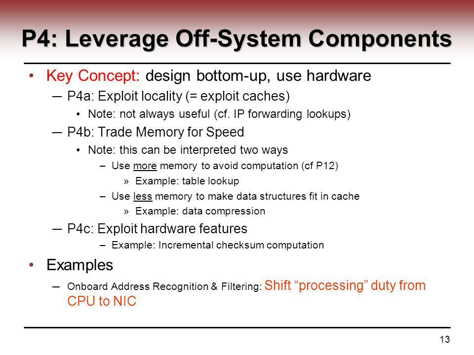 1 ECE 526 – Network Processing Systems Design System ...