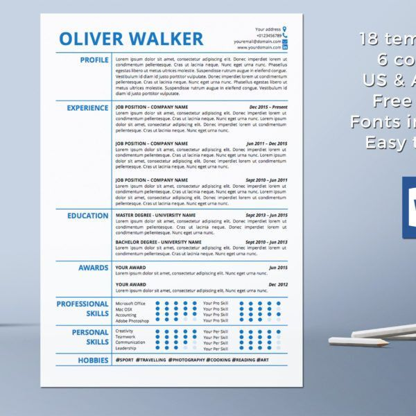 Resume Template Instant Download | CV Template | Professional ...