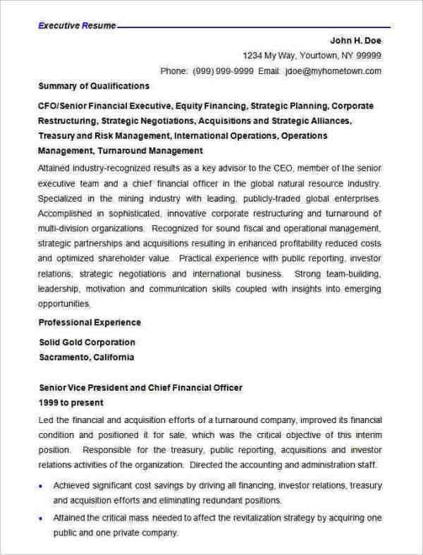 Corporate Resume Format. Sample Corporate Resume Format Resume ...