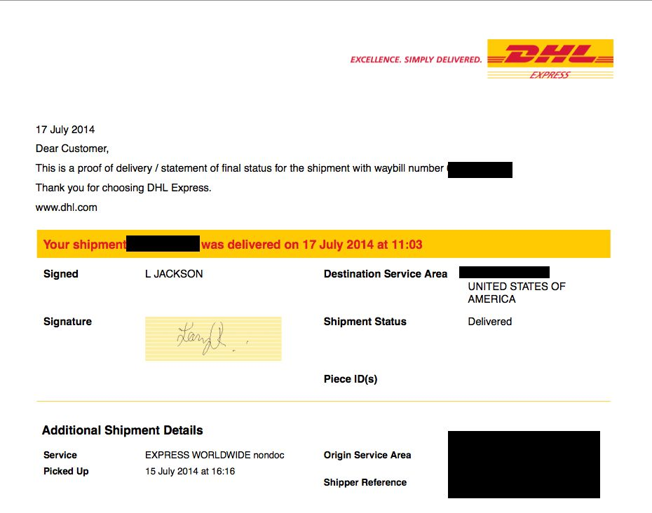 DHL Delivers Packages to the wrong address - Water Cooler - Spiceworks