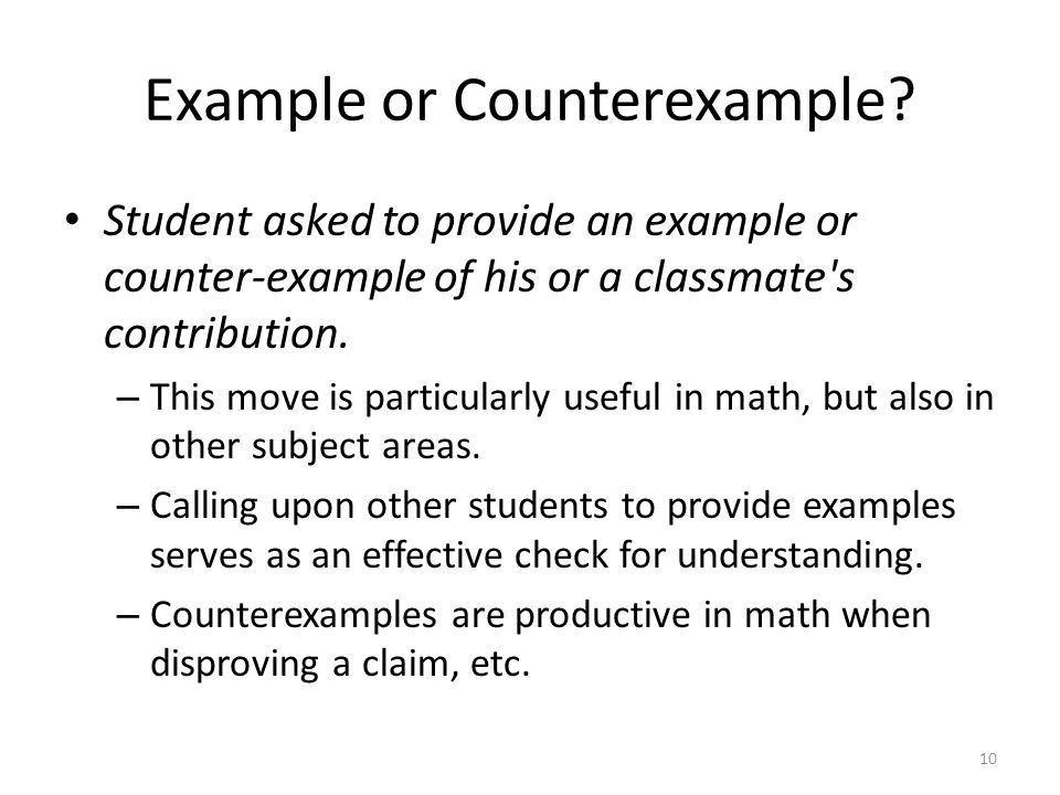 Talk Moves in Math While teachers of both younger and older ...