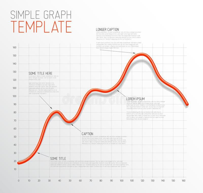 Infographic Line Graph Template Stock Vector - Image: 42222769