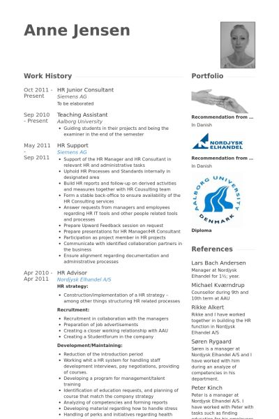 Hr Resume samples - VisualCV resume samples database