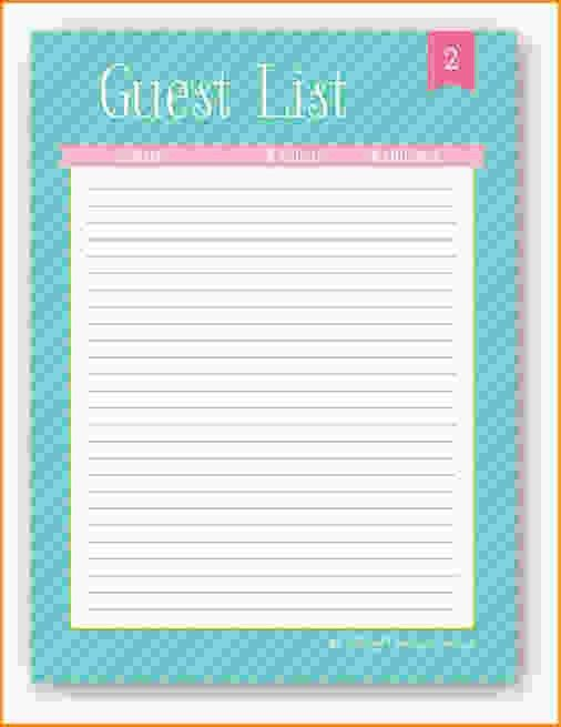 10+ party guest list template | Loan Application Form