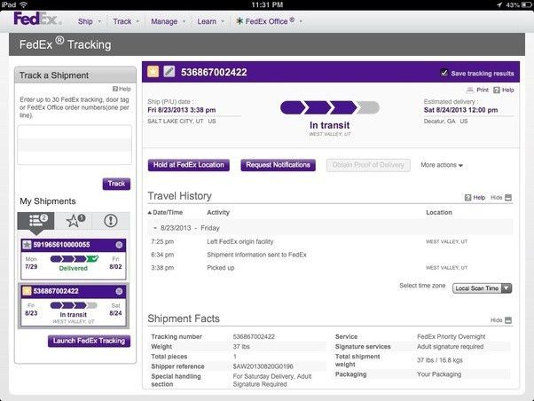 What is your FedEx tracking number? How do you find it? - Quora