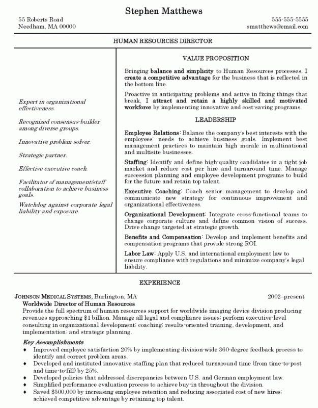 best human resources manager resume example recentresumes com ...