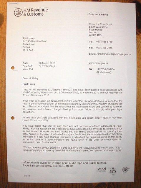 Project Freeman-Phase3.B.2.1: Notice to HMRC