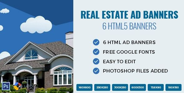 Real Estate - HTML Ad Banners by Exe-Design | CodeCanyon