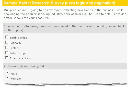 Market Research Survey Sample :: Easy, Effective, Insightful ...