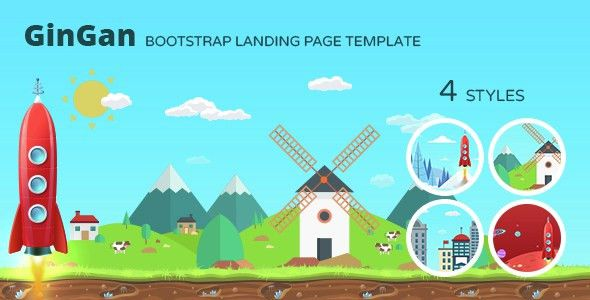 GinGan - Bootstrap Landing Page Template by responsiveexperts ...