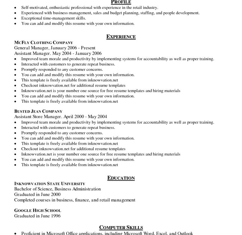 Astounding Ideas Resume Templates Examples 12 Download Free Resume ...