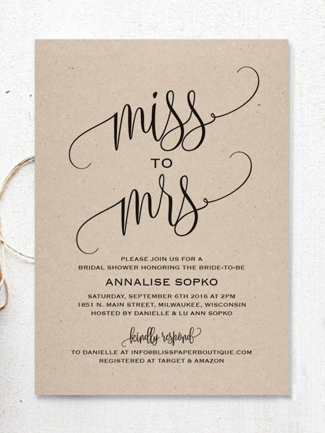 17 Printable Bridal Shower Invitations You Can DIY | Bridal ...