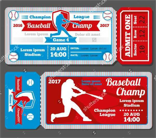 7+ Baseball Ticket Templates - Free PSD, AI, Vector EPS Format ...