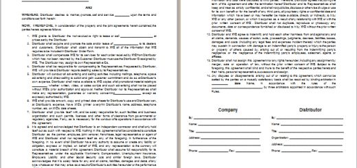 MS Word Advertising Agency Agreement Template | Free Agreement ...