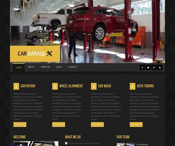17 Free Cars HTML Website Templates | TemplateMag