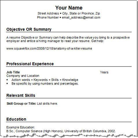Download Easy Resume | haadyaooverbayresort.com
