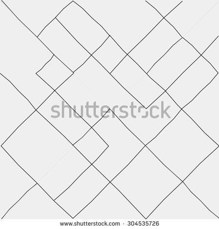 Geometric Simple Black White Minimalistic Pattern Stock Vector ...