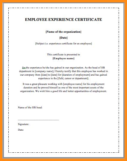 7+ work experience certificate sample | musicre sumed