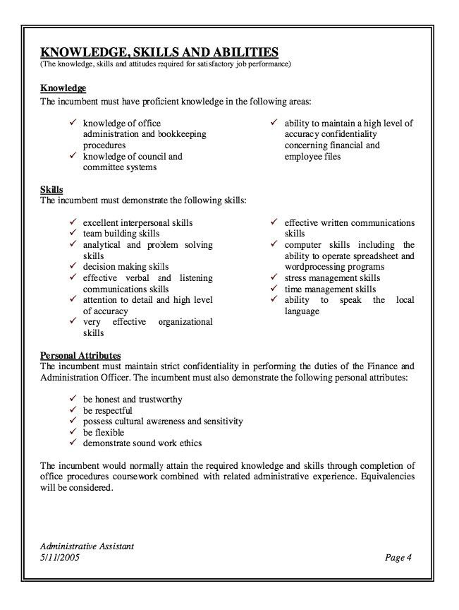 Professional Summary For Administrative Assistant | Template Design