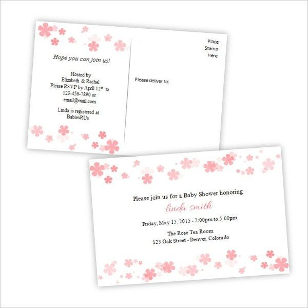 Baby Shower Postcard Template - 7+ Free PSD, Vector AI, EPS Format ...