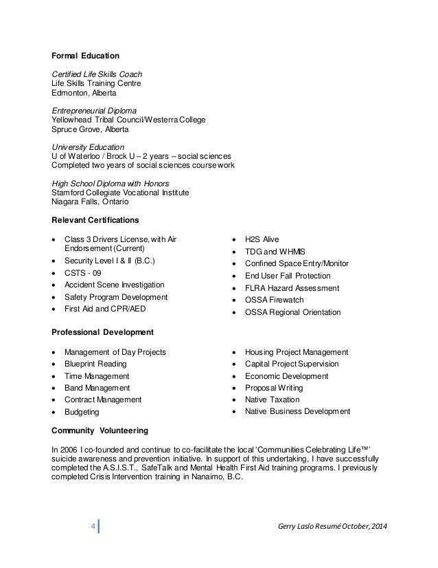life coach resume high school football coach sample resume