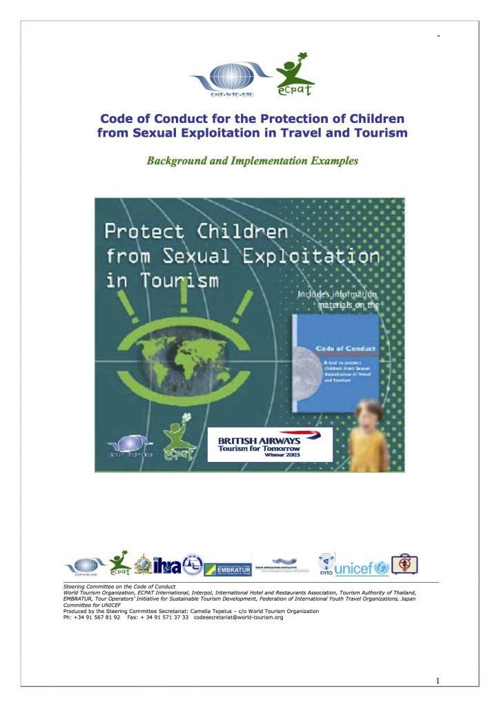 The Code of Conduct for the Protection of Children from Sexual ...