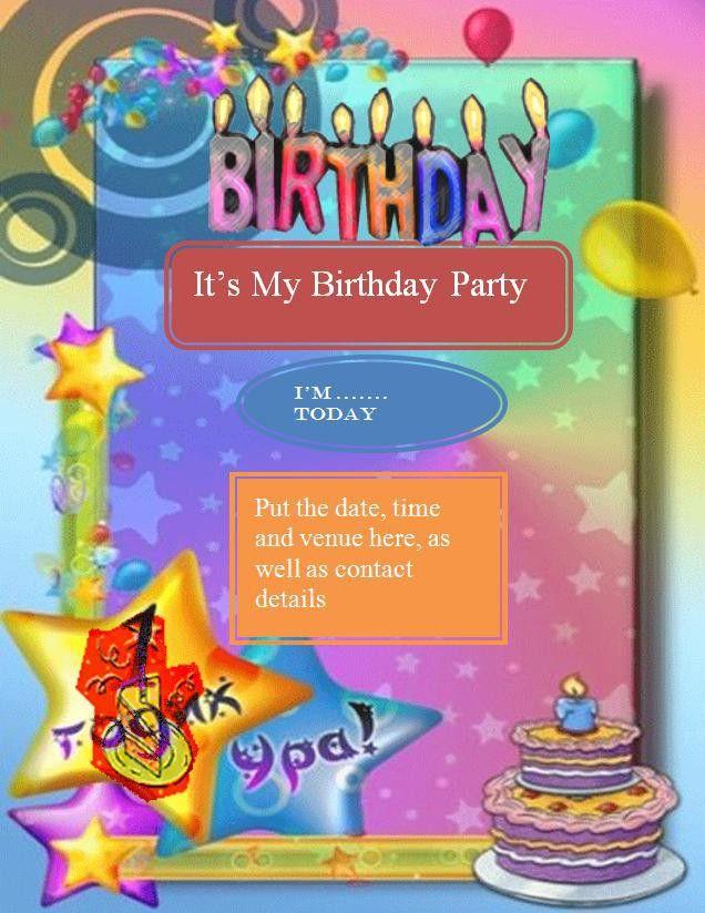 Birthday Invitation Flyer Template - Contegri.com