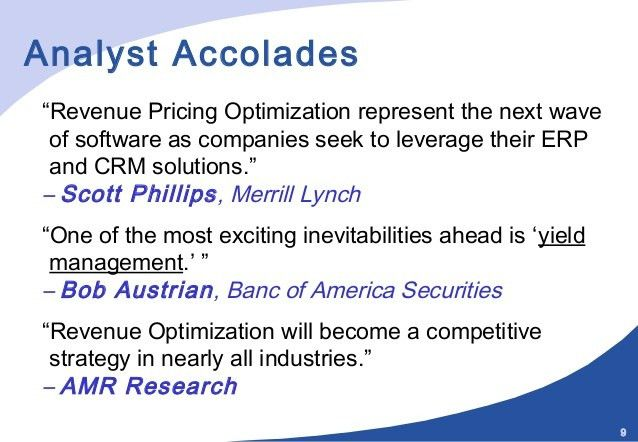Revenue Management And Dynamic Pricing Part I
