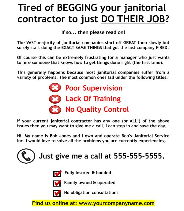 Janitorial Business Flyer FREE DOWNLOAD. Yep... get a killer flyer ...