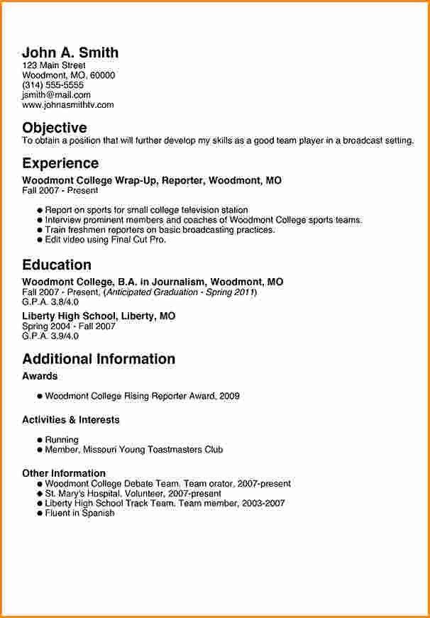 8+ freshman college student resume examples   Invoice Template ...