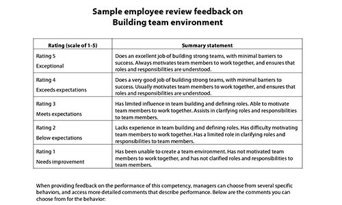 Sample performance review comments & appraisal feedback phrases ...