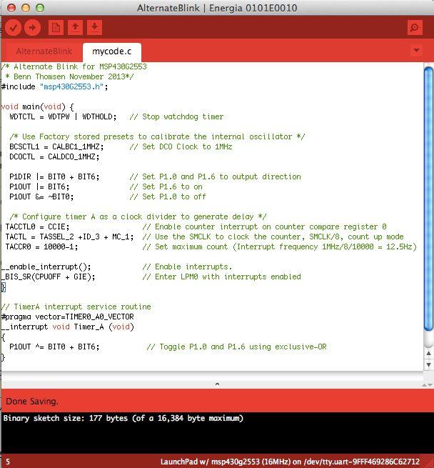Using Energia to code in c | Benn Thomsen
