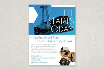 Modern Fitness Flyer Template | Inkd