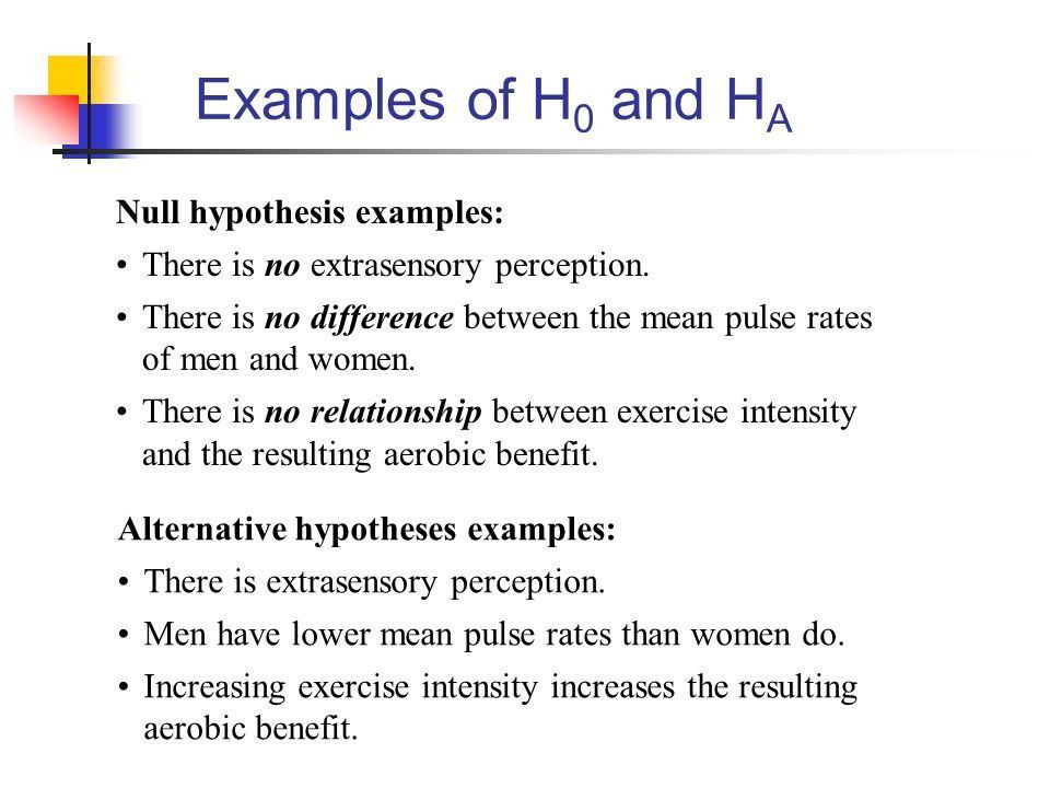 Week 9 Testing Hypotheses. Philosophy of Hypothesis Testing Model ...