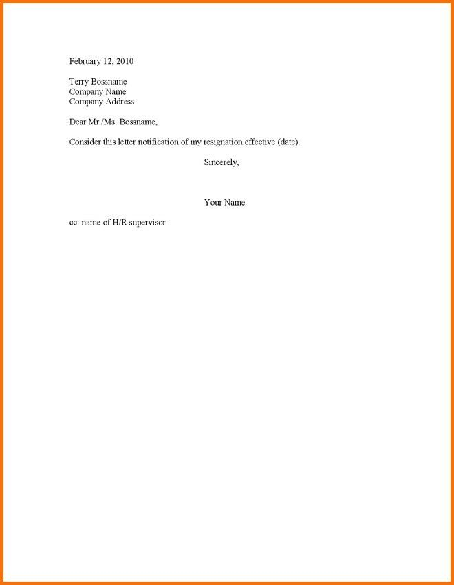 Simple Resignation Letters. Simple Part-Time Job Resignation ...