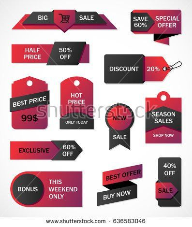 Vector Stickers Price Tag Banner Label Stock Vector 550594618 ...
