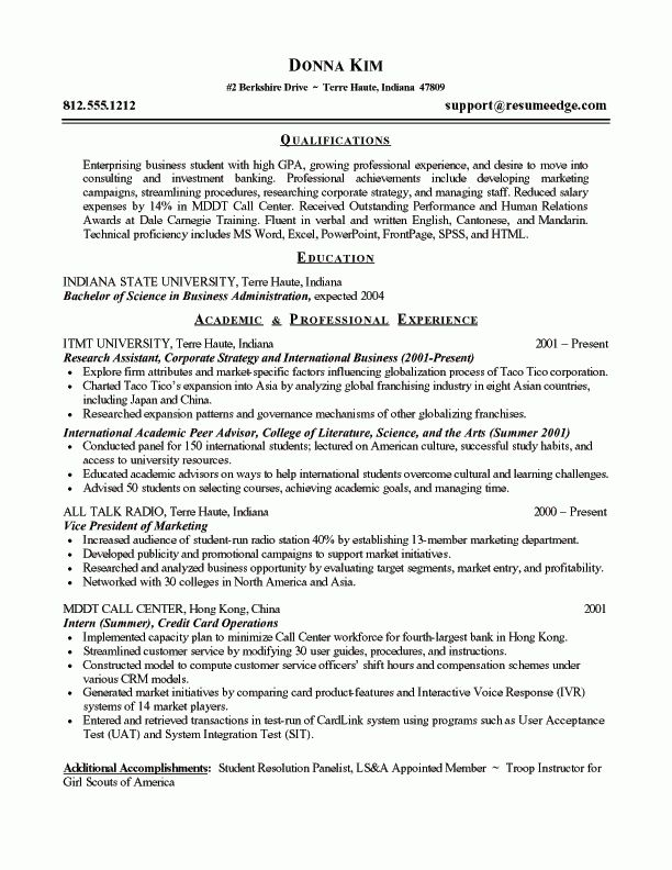 sample resume objectives for entry level manufacturing - Writing ...