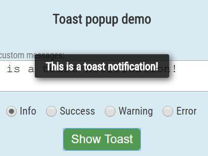 jQuery toast message Plugins | jQuery Script