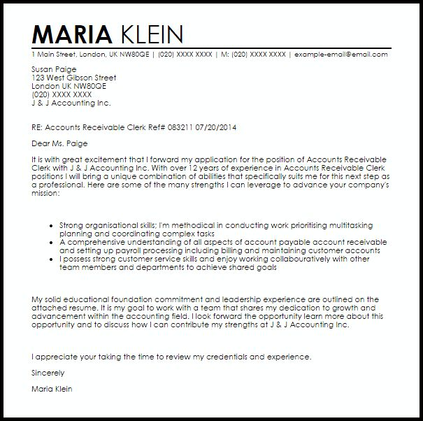 cover letter accounting clerk position online learning essay - Cover Letter For Accounting Clerk