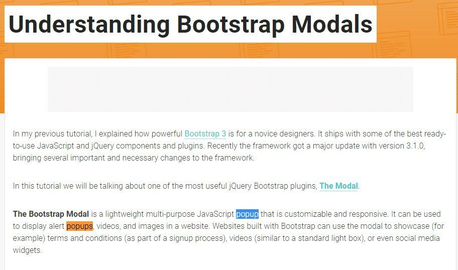 Bootstrap Modal Popup Header