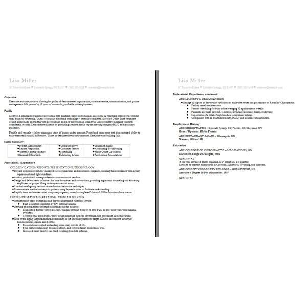 two page resume sample download two page resume sample