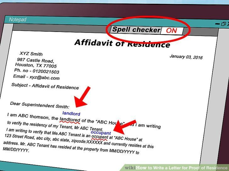 How to Write a Letter for Proof of Residence (with Sample Letter)