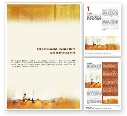 Corporate Life Word Template 01544 | PoweredTemplate.com